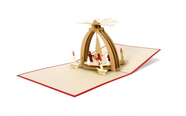 Tischpyramide Pop Up Karte