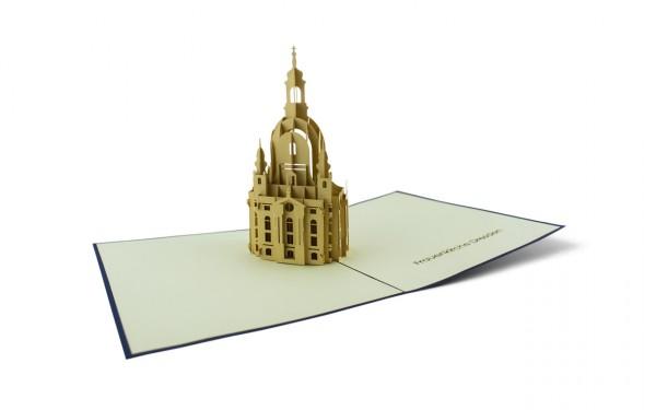 Pop-Up-Karte Dresdener Frauenkirche