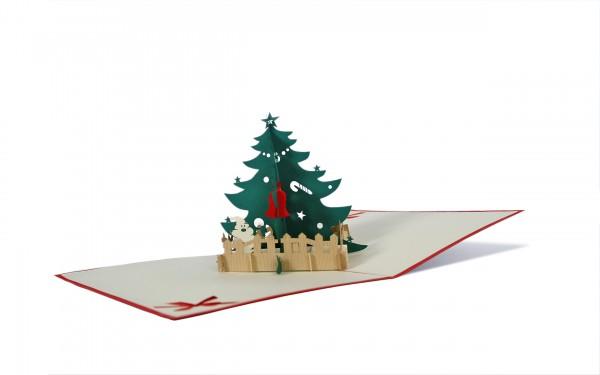 Weihnachtsbaum Pop Up Karte