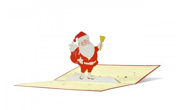 Santa mit Glocke