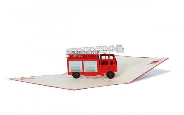 Feuerwehrauto Pop Up Karte