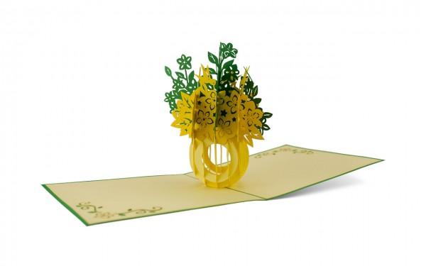 Blumenbouquet grün-gelb