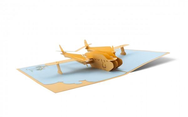 Flugzeug Pop-Up-Karte