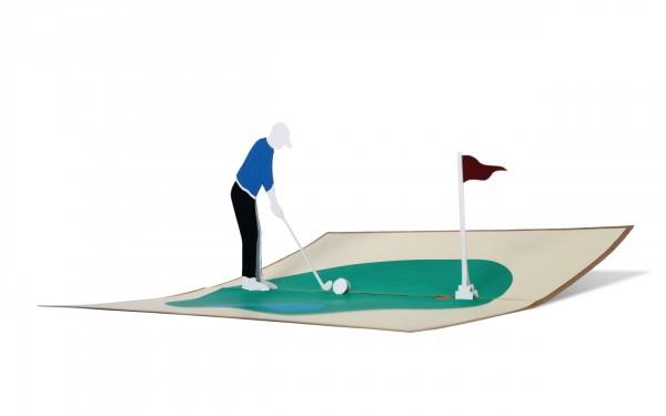 Pop Up Karte Golf