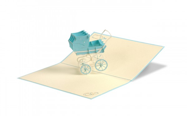 Kinderwagen Junge Pop Up Karte