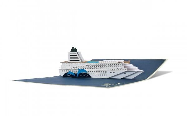Kreuzfahrtschiff Pop Up Karten