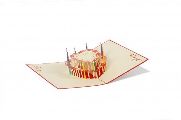 Große Torte Pop Up Karte