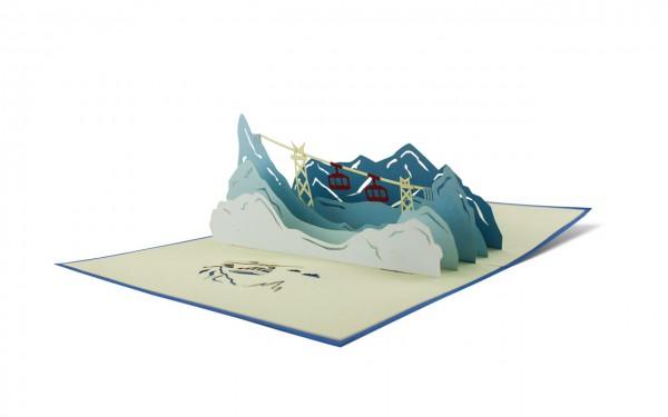 Pop-Up Karte Berglandschaft
