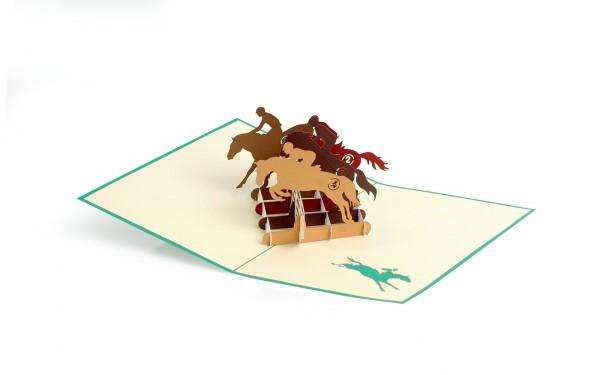 Pferde Pop Up Karte