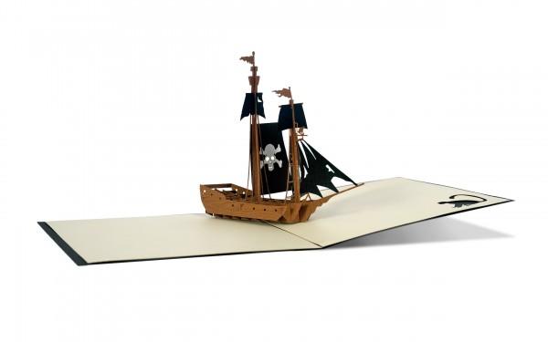 Piratenschiff Pop-Up-Karte