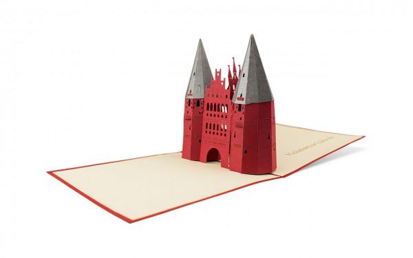 Holstentor Lübeck Pop Up Karte