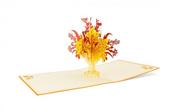 Blumenstrauß Pop Up Karte